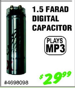 1.5 Farad MP3 digital capacitor
